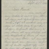 1862-09-27 William E. Thorpe to Alfred Thorpe Page 1