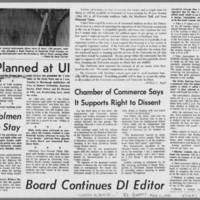 """1970-05-11 Daily Iowan Article: """"""""Option to  Leave Given Students"""""""" Page 5"""