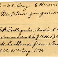 Clinton Mellen Jones, egg card # 156