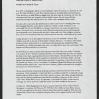 Summary by Margaret Richardson Page 1