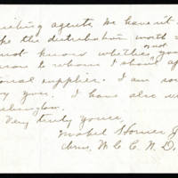 Mabel Jacobs to Mrs. Cora Whitley Page 2