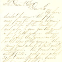 Thomas C. Durant's correspondence and check regarding burial plots at Greenwood Cemetery in Brooklyn, New York, 1868