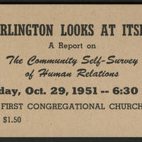 "1951-10-29 Ticket for """"Burlington Looks At Itself"""""