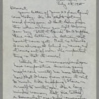1945-07-25 Laura Davis to Lloyd Davis Page 1