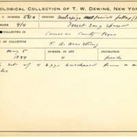 Thomas Wilmer Dewing, egg card # 459