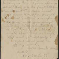 Letter from B.F. Page 2