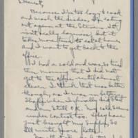1942-01-23 Laura Davis to Lloyd Davis Page 1