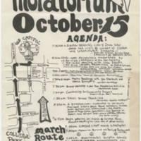 1969-10-15 Vietnam Moratorium Flyer