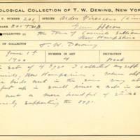 Thomas Wilmer Dewing, egg card # 150