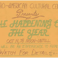 1978-10-14 Afro-American Cultural Center Presents The Happening of the Year