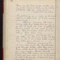 "Page 74 Written by Mahaska """"Hattie"""" Byington Whetstone from I.B. Reed notebook entry"