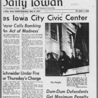 "1971-05-08 Daily Iowan Article: """"Explosion Shakes Iowa City Civic Center"""" Page 2"