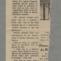 "1970-05-13 Des Moines Register Article: ""Back Study of Kent Deaths"" Front"
