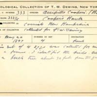 Thomas Wilmer Dewing, egg card # 216