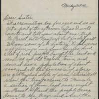 1917-10-01 Harvey Wertz to Miss Dorothy Wertz Page 1
