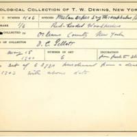 Thomas Wilmer Dewing, egg card # 293