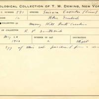 Thomas Wilmer Dewing, egg card # 706u