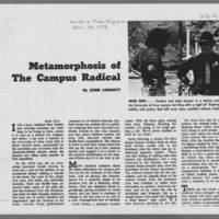 """1972-01-30 New York Times Magazine Article: """"""""Metamorphosis Of A Campus Radical"""""""" Page 3"""