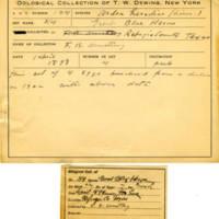 Thomas Wilmer Dewing, egg card # 139