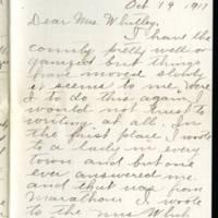 1917-10-19 Mrs. C.T. Millard to Mrs. Whitley Page 1