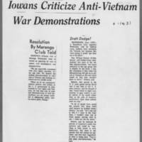 University of Iowa anti-war protests, 1965-1967