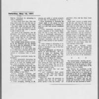 "1971-05-15 Daily Iowan Article: """"Campus Quiet; One Arrest"""" Page 2"