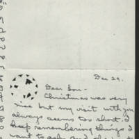 Louise Liers letters to Louis Ehrhardt, 1977-1978