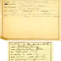 Thomas Wilmer Dewing, egg card # 404