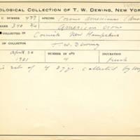 Thomas Wilmer Dewing, egg card # 664u