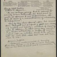 Iowa Tuberculosis Association correspondence from Arthur C. Benson